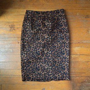 Sexy, Leopard Print, Old Navy Pencil Skirt, Size 0